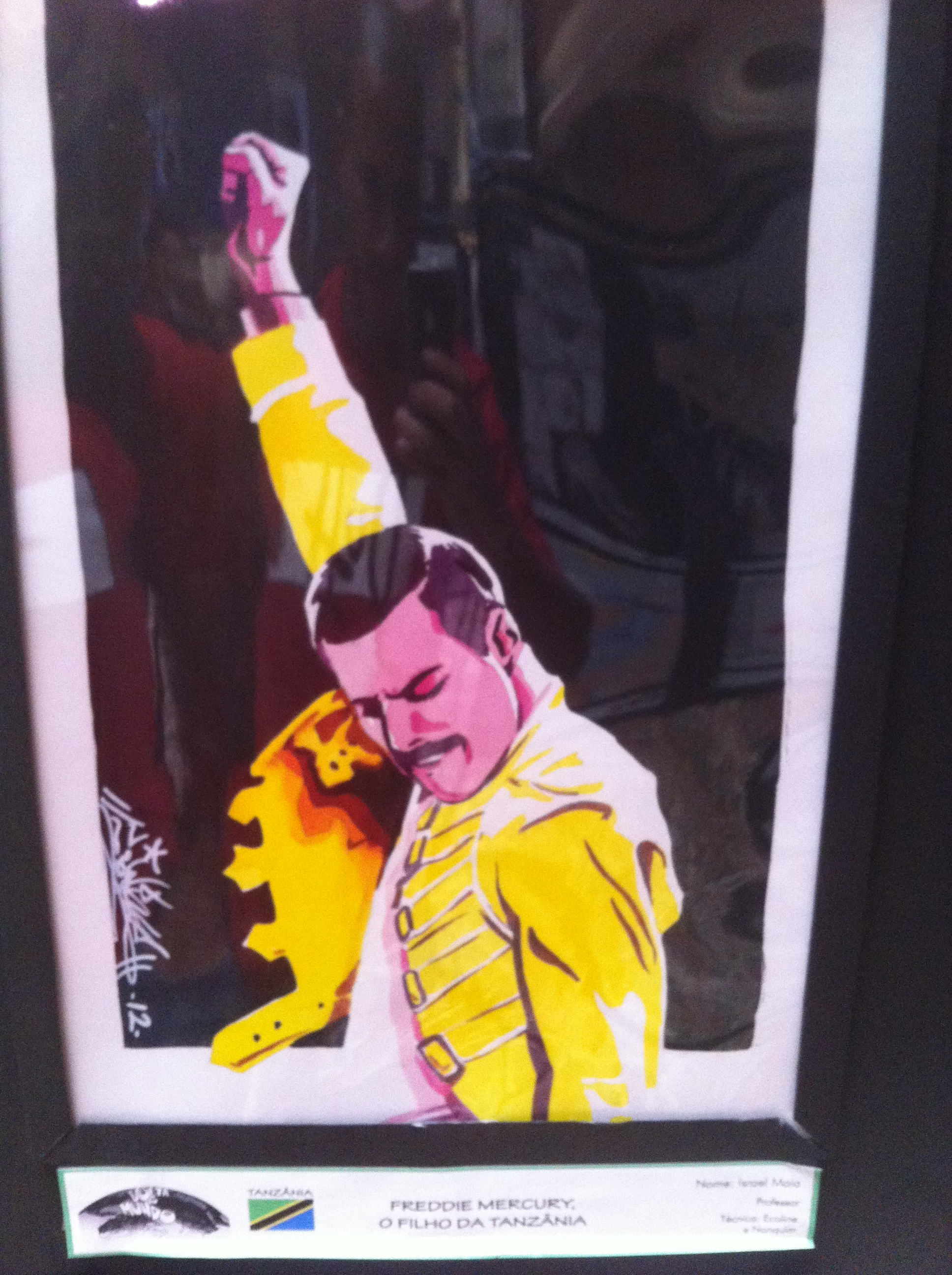 Pintura do Freddie Mercury